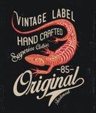 Lizard Print Design Royalty Free Stock Image