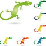 Lizard, salamander or gecko, animal logo. Lizard, salamander or gecko, colored, animal logo Stock Photo