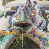 Lizard sculpture in barcelona park guell Royalty Free Stock Images