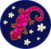 lizard spotty иллюстрация вектора
