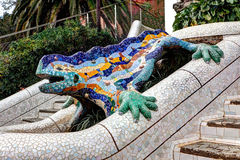Lizard stairs park guell, Barcelona, Spain Royalty Free Stock Photography