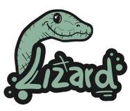 Lizard stick Stock Photos
