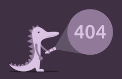 Lizard, torch, 404 error Royalty Free Stock Photography