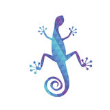 Lizard with triangle pattern. Lizard with blue and purple triangle pattern Stock Image