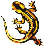 Lizard yellow spoted Royalty Free Stock Photos