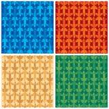 Lizards. Seamless lizard patterns. Original vector illustration Stock Images
