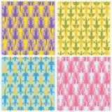 Lizards color patterns. Seamless lizard patterns. Original vector illustration Stock Image