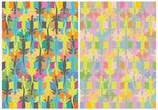 Lizards colorful. Seamless lizard patterns. Original vector illustration Stock Photos