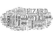A Lizards Eye View Of Life As A Reptile Word Cloud Royalty Free Stock Photography