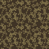 Lizards. Seamless Abstract background. Vector pattern Stock Photos