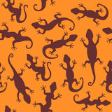 Lizards. Seamless Abstract background. Royalty Free Stock Image
