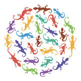 Lizards. Vector Abstract background. Royalty Free Stock Photography