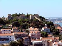 Lizbońskiego zamek krajobrazu Zdjęcie Royalty Free