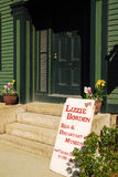 Lizzie Borden Bed and Breakfast and Museum. The Lizzie Borden house in Fall River, Massachusetts, where a woman allegedly killed her parents, is now an inn and Stock Images
