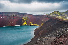 Ljotipollur crater lake, Landmannalaugar, Iceland Royalty Free Stock Photography