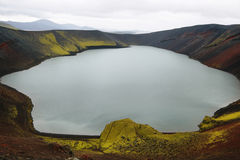 Ljotipollur volcanic crater lake Stock Images