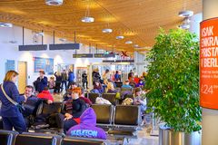 LJU terminal pre christmas boarding stock photos