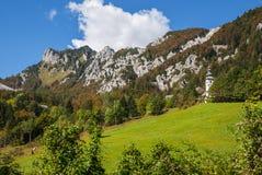 Ljubelj bergpasserande, natur, Slovenien Arkivfoto