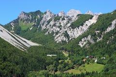 Ljubelj pass, Alps, Slovenia. Ski resort and old alpine pass linking Slovenia and Austria - Ljubelj, Slovenia Stock Images