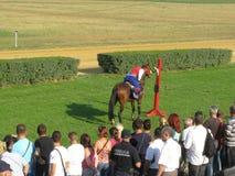 Ljubicevo骑马者比赛 库存照片