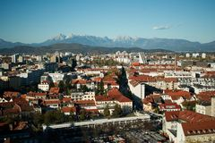 Ljubjana, die Hauptstadt von Slowenien lizenzfreie stockfotografie