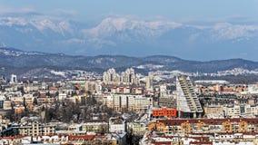 Ljubliana鸟瞰图  库存照片
