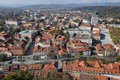 Ljubljana aérea Eslovenia foto de archivo libre de regalías