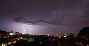 Ljubljana avec la tempête photographie stock libre de droits
