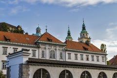 Ljubljana budynki Zdjęcie Stock