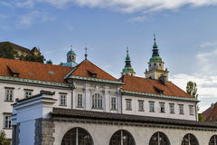Ljubljana buildings Stock Photo