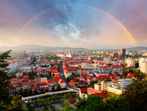 Ljubljana, capital city of slovenia Royalty Free Stock Image