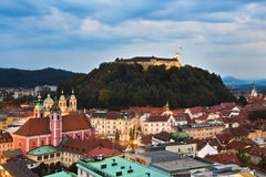 Ljubljana, capital de la Slovénie Photo stock