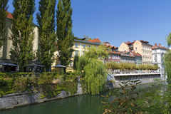 Ljubljana, capital de Slovenia Foto de Stock Royalty Free