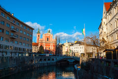 Ljubljana, capital of Slovenia Royalty Free Stock Photography