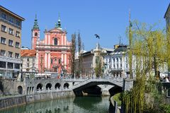 Ljubljana, capital of Slovenia, Europe Stock Photos