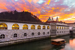 Ljubljana, capital of Slovenia, Europe. Stock Photos