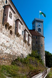 Ljubljana Castle. Detail of the medieval Ljubljana Castle, Slovenia, Europe Royalty Free Stock Photography