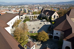 Ljubljana Castle Stock Photo
