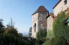 Ljubljana castle royalty free stock photography