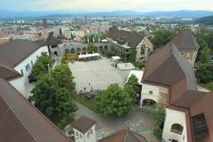 Ljubljana castle Stock Photos