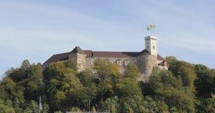 Ljubljana castle, Slovenia. Castle of Ljubljana, Slovenia, Europe Royalty Free Stock Photography