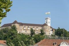 Ljubljana castle, Slovenia, Europe Royalty Free Stock Images