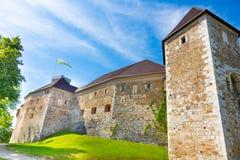 Ljubljana castle, Slovenia, Europe. stock photography