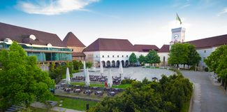 Ljubljana castle, Slovenia, Europe. Royalty Free Stock Photography