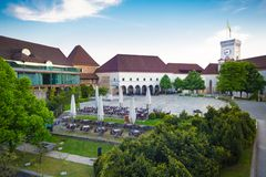 Ljubljana castle, Slovenia, Europe. Royalty Free Stock Photos