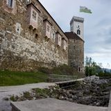 Ljubljana Castle in Slovenia Royalty Free Stock Photography
