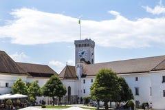 Ljubljana Castle in Slovenia royalty free stock photos