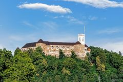 The Ljubljana Castle royalty free stock photo