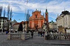 Ljubljana centrum Royaltyfri Fotografi