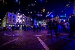 Ljubljana in christmas decoration Stock Photos